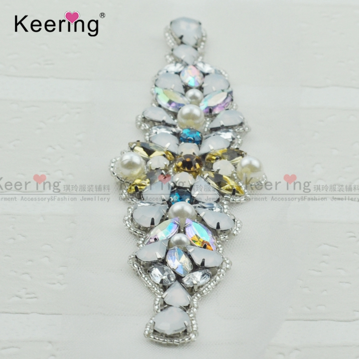 ... Buy Fashion Pretty Sparkling Crystal Rhinestone Applique For Bridal  Sash WRA 907 from Reliable fashion applique suppliers on Guangzhou Keering  Imp. Exp. fcf8f618d65a