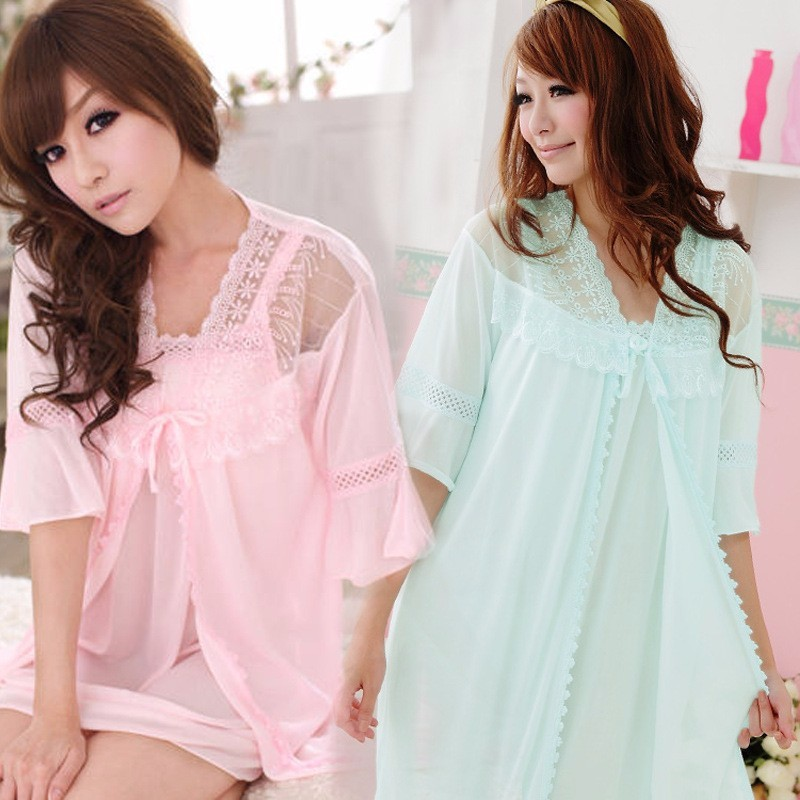 Lovely Summer House Design: Dropshipping Summer Lovely Nightwear Sexy Bath Robe Women