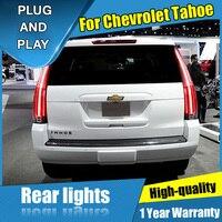 4 шт. автомобильный Стайлинг для Chevrolet Tahoe Suburban задние фонари 2015 2016 светодиодный задний фонарь + сигнал поворота + тормоз + обратный светодиодн
