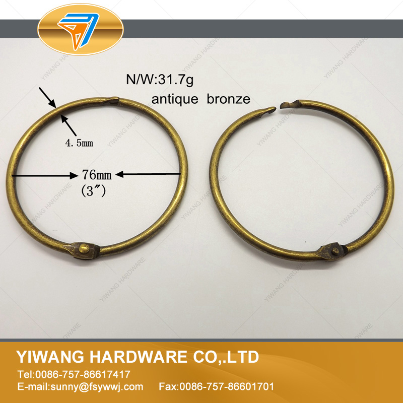 boa qualidade anel de cortina 10 pcs brozen circulo anel pendurado anel loose leaf