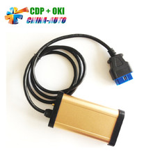2018 Best Price Gold CDP Pro 2013 R3 With OKI Chip + Bluetooth CDP Auto OBDII Diagnostic Tool TCS CDP Pro  For Cars / Trucks