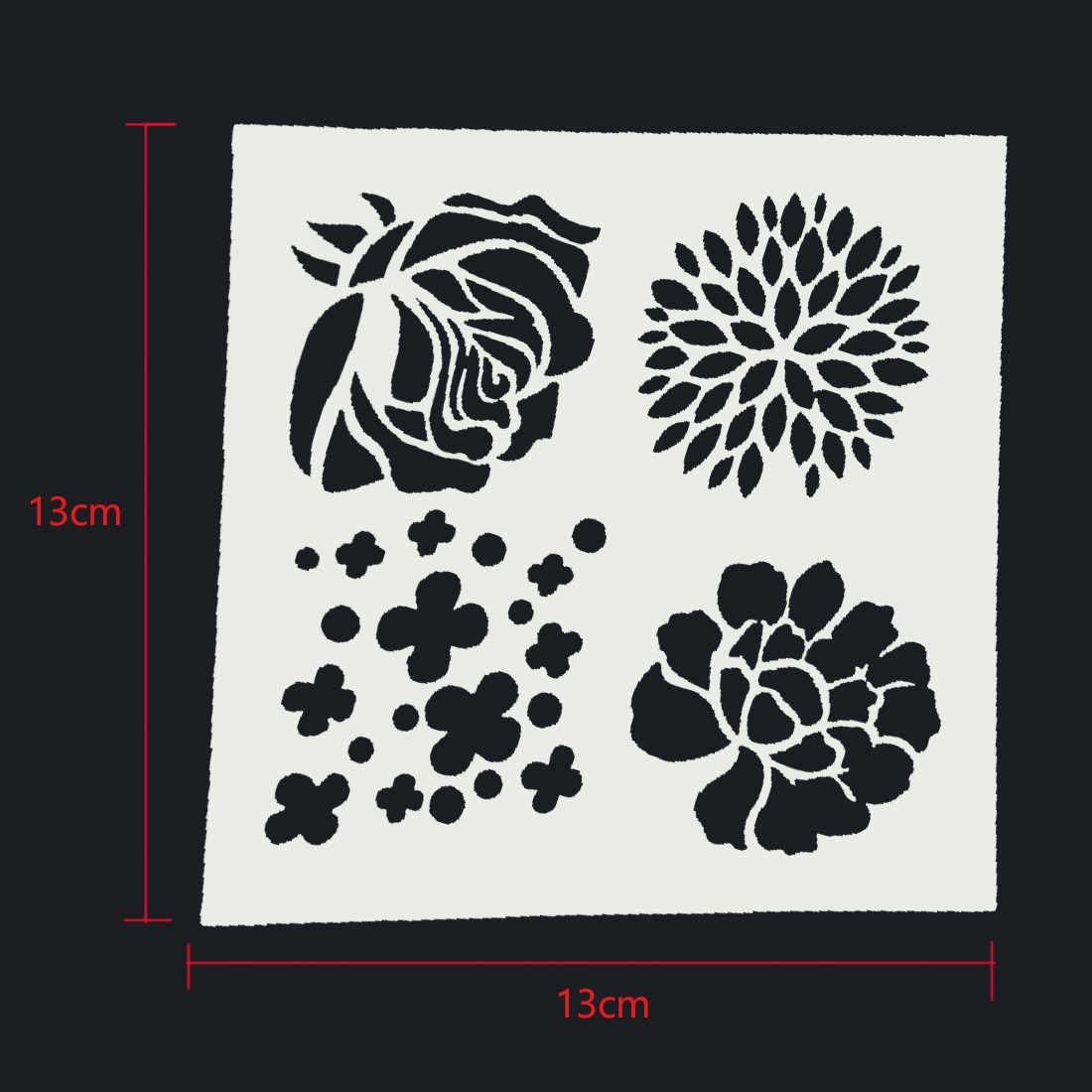 Plastic Cake Foam Spray Template Barista Stencils Decoration Tool Garland Mold Fancy Cake Printing Flower Model