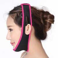 Cara levantar reducir doble mentón elevación reafirmante cara-Lift cinturón de máscara cara delgada V Shaper Facial adelgazamiento vendaje de la piel cuidado de la salud