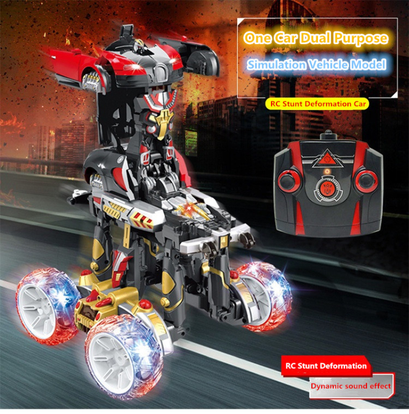 2018 new Bigfoot Monster 2.4G 4-wheel electric deformation Stunt dumper Remote control Stunt Car One Key Deformation Vehicle car