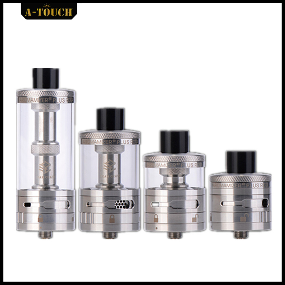 A-Touch Original Aromamizer Plus 10ml RDTA 30mm Real Dripper Tank E Cigarette Vaporizer for Steam Crave with High Quality original steam crave aromamizer plus rdta 10ml e liquid enhanced airflow juice flow design rdta tank electronic cigarette tank