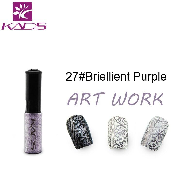 KADS Stamp polish 1 Bottle/LOT Nail Polish & stamp polish nail art pen 30 color Optional 10ml More engaging 4 Seasons