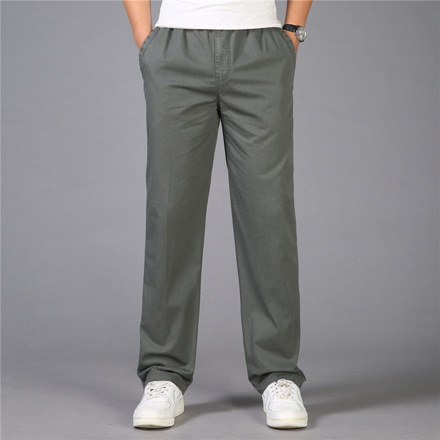 cb2997fc8c224 Plus size L-6XL Autumn 100% Cotton Men s Cargo Pants Joggers Baggy Tactical  Pants