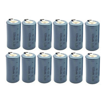 15PCS/LOT  Silvery TBUOTZO Sub C SC 1.2V 3200mAh Ni-Cd Ni Cd Rechargeable Battery Batteries silvery color Free shipping
