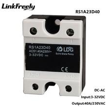 цена на RS1A23D40 5pcs Triac 40A Solid State Relay,Output24-280VAC Input 3V 5V 12V 24V 32V DC AC SSR,Zero Crossing On Relay Board Switch