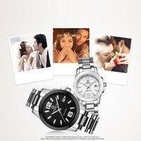 Карнавал Мода Жемчуг керамика Пара часы высокого класса автоматические часы Календарь HD светящиеся водостойкие Пара часы для влюбленных