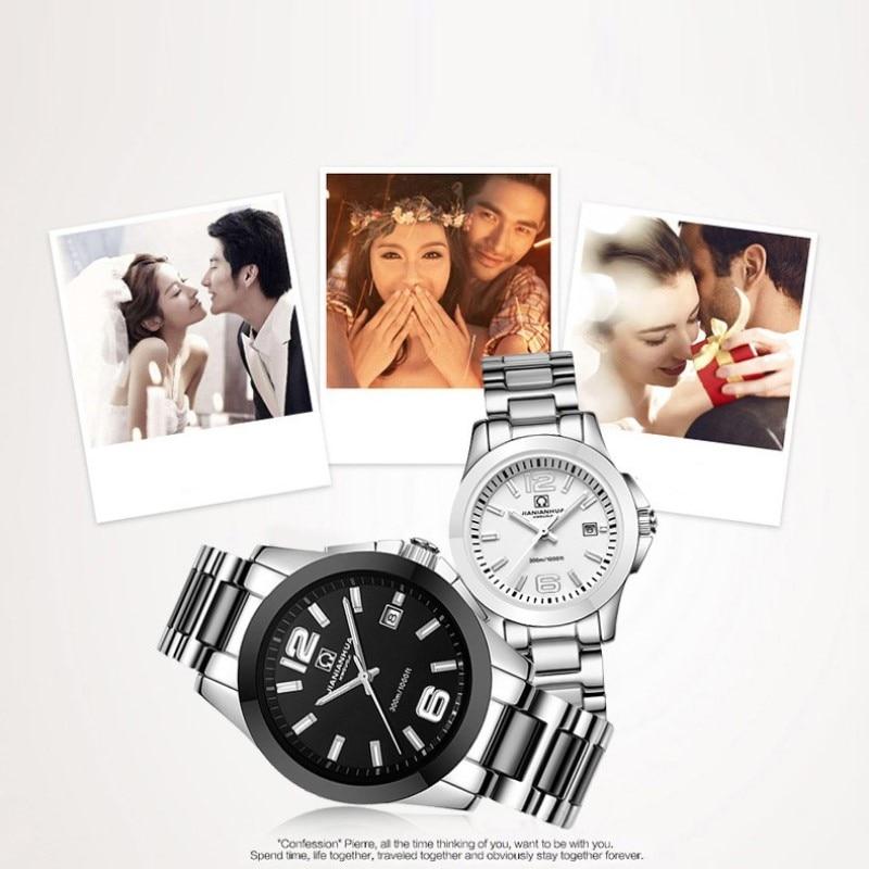 Carnaval mode perle céramique Couple montre haut de gamme automatique montre calendrier HD lumineux étanche Couple montres pour les amoureux