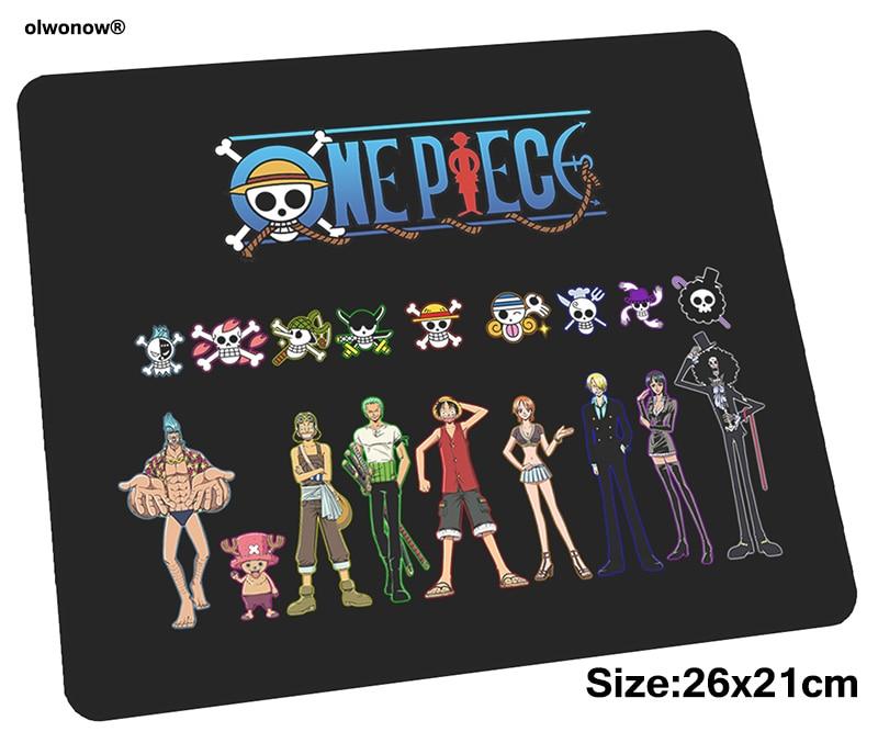 One Piece mousepad 26x21cm gaming mouse pad big gamer mat Cartoon game computer desk padmouse keyboard Aestheticism play mats