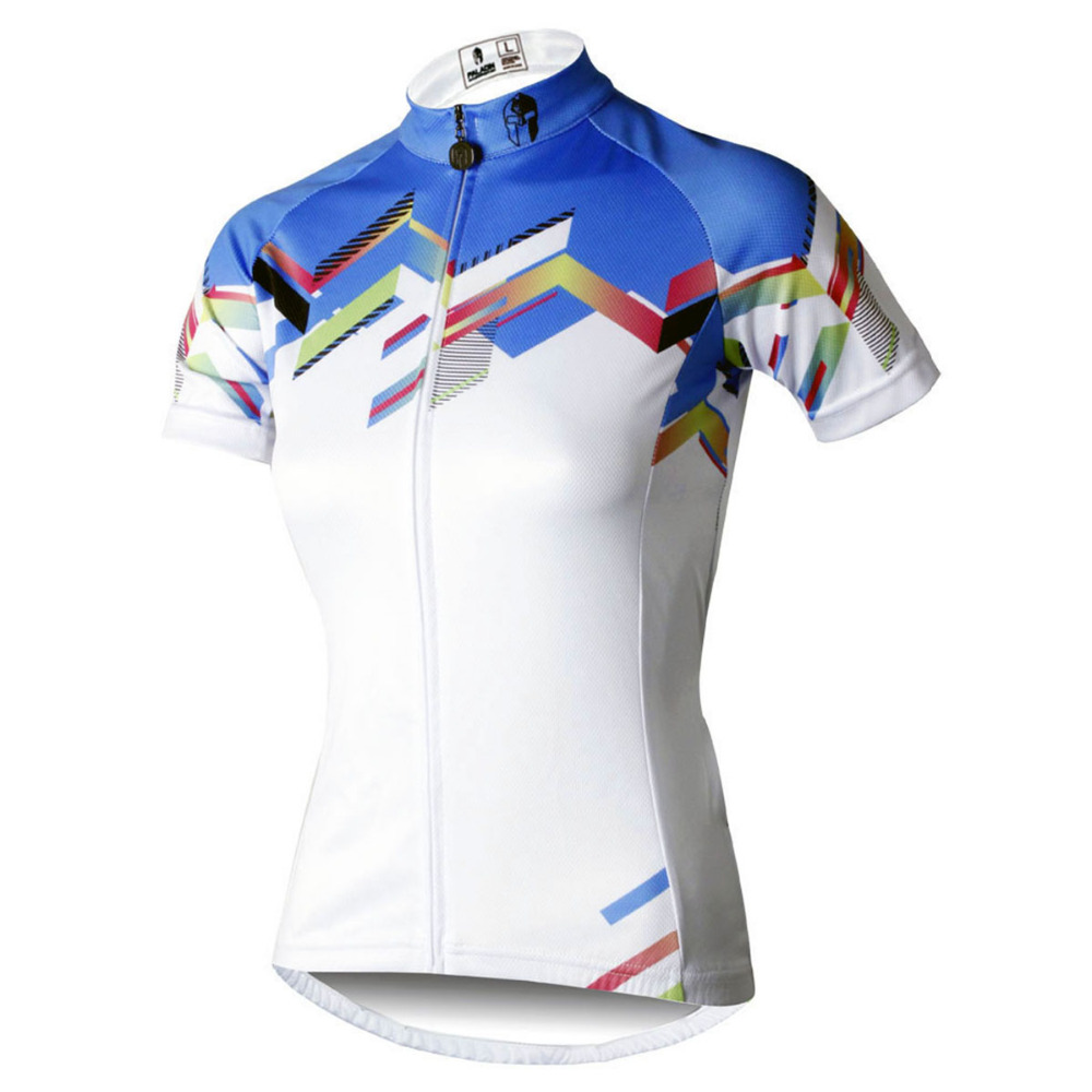 Women Summer Breathable Short Sleeve Bike Jerseys Cycling White Crewneck  Riding Clothing Size XS To 6XL-in Cycling Jerseys from Sports    Entertainment on ... 6b7420a61