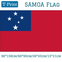 Free shipping Samoa National Flag 90*150cm/60*90cm/30*45cm/15*21cm 3*5ft Printed Banner