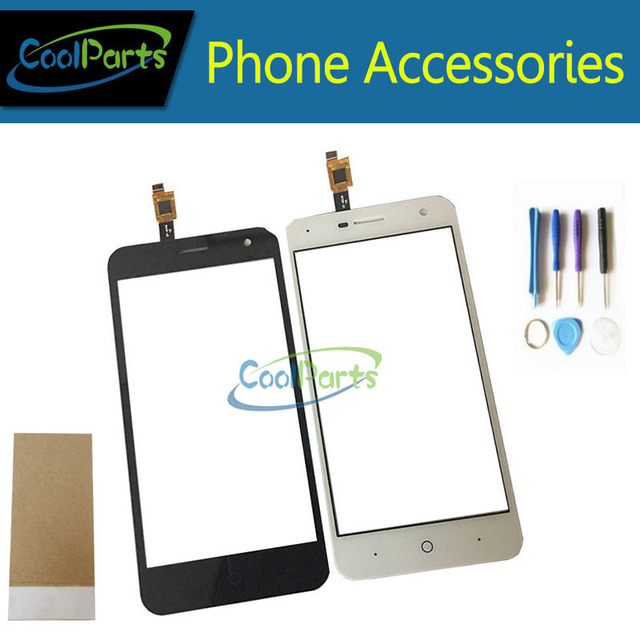 Black and White Color For ZTE Blade A465 Touch Screen Digitizer Touch Glass Replacement Part Tape glue/Tools 1PC/Lot.