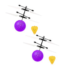 2019 Flying RC Toy Electric Ball LED Flashing  Light Aircraft Helicopter Induction Toy helicoptero de controle remoto Toy