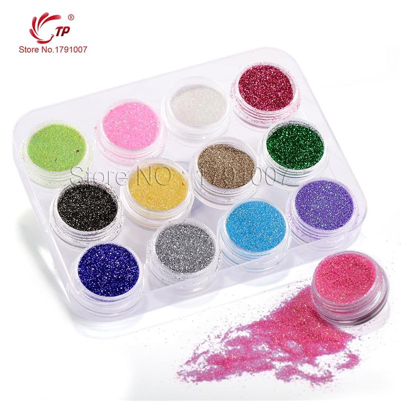 Aliexpress Tp 12pcs Lot 12 Colors Glitter Dust Powder 731509003765 Kiss Acrylic Sculpture Kit Perfect French