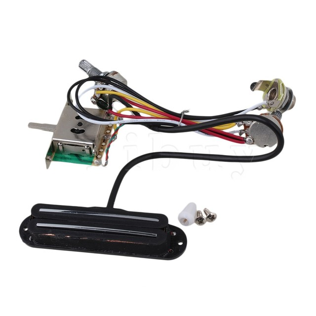 Yibuy Electric Guitar Circuit Wiring Harness Twin Coil Pickup & 3 ...