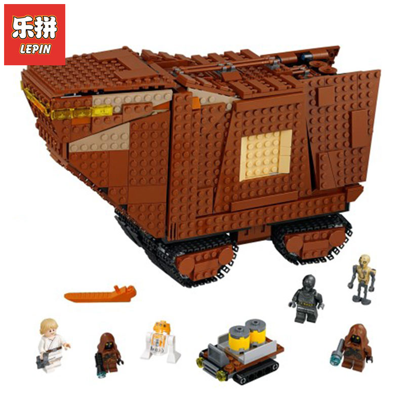 Lepin 05146 Compatible Legoing 75220 Gifts STAR Wars Series The Sandcrawler Building Blocks Bricks Educational Toys Funny Model new 1685pcs lepin 05036 1685pcs star series tie building fighter educational blocks bricks toys compatible with 75095 wars