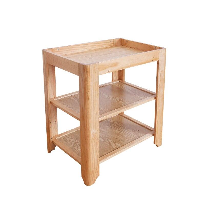 Housbay 4 en 1 grandir bébé lit en bois infantile bébé multifonctionnel Table à langer, poste à couches, organisateur de soins infirmiers