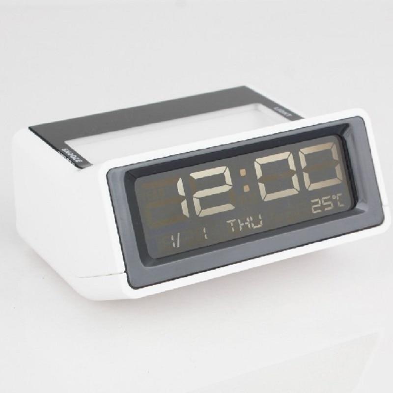 Creative <font><b>LED</b></font> luminous Muted electronic alarm clock al fajr despertador digital watch home decor <font><b>klok</b></font> masa saati calendar plastic