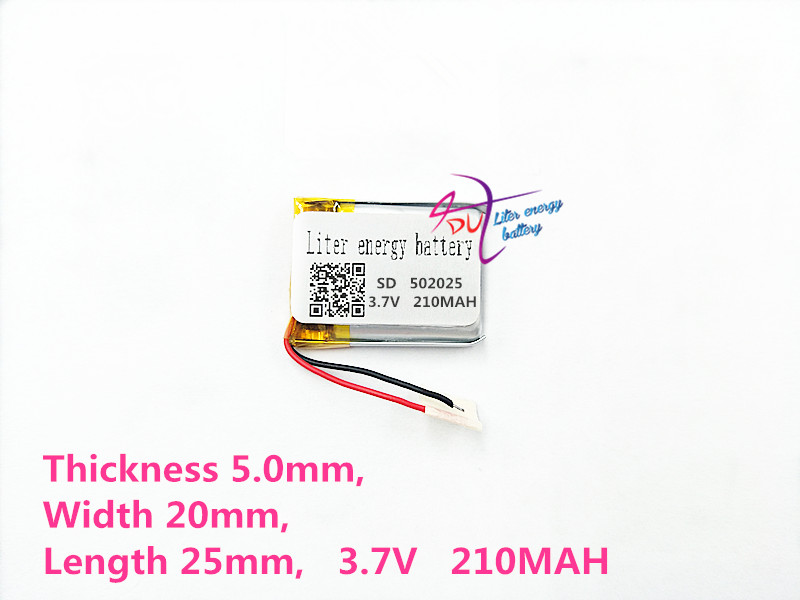502025 3.7V 210mah Lithium polymer Battery With Protection Board For MP3 MP4 MP5 GPS Digital Products a5 b5 spiral cute notebook new school stationery horizontal page daily memos top quality paper school supplies composition book