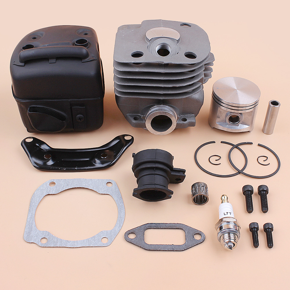 50mm Cylinder Piston Muffler Engine Assembly Kit For Husqvarna 362 365 371 372 372XP Chainsaw Motor w/ Intake Manifold Gaskets50mm Cylinder Piston Muffler Engine Assembly Kit For Husqvarna 362 365 371 372 372XP Chainsaw Motor w/ Intake Manifold Gaskets