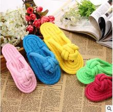 Pet Toys Multicolor Cotton Rope Knot Flip Slippers Pet Toys Molar Dog Tooth Cleaning Toys