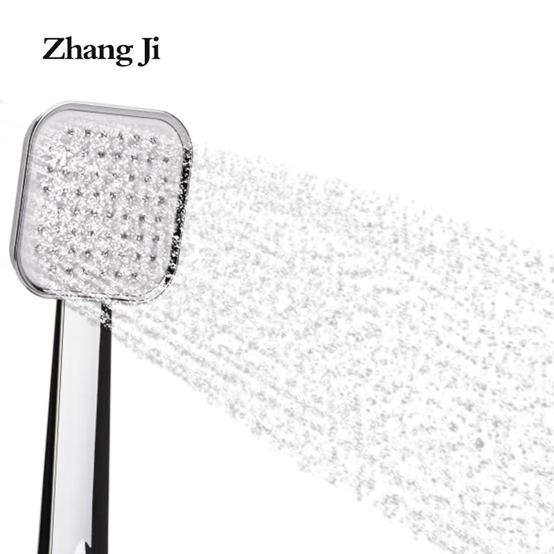 2017 new design light square bathroom shower filter Silver white abs chrome shower head 10cm water saving handheld shower ZJ052