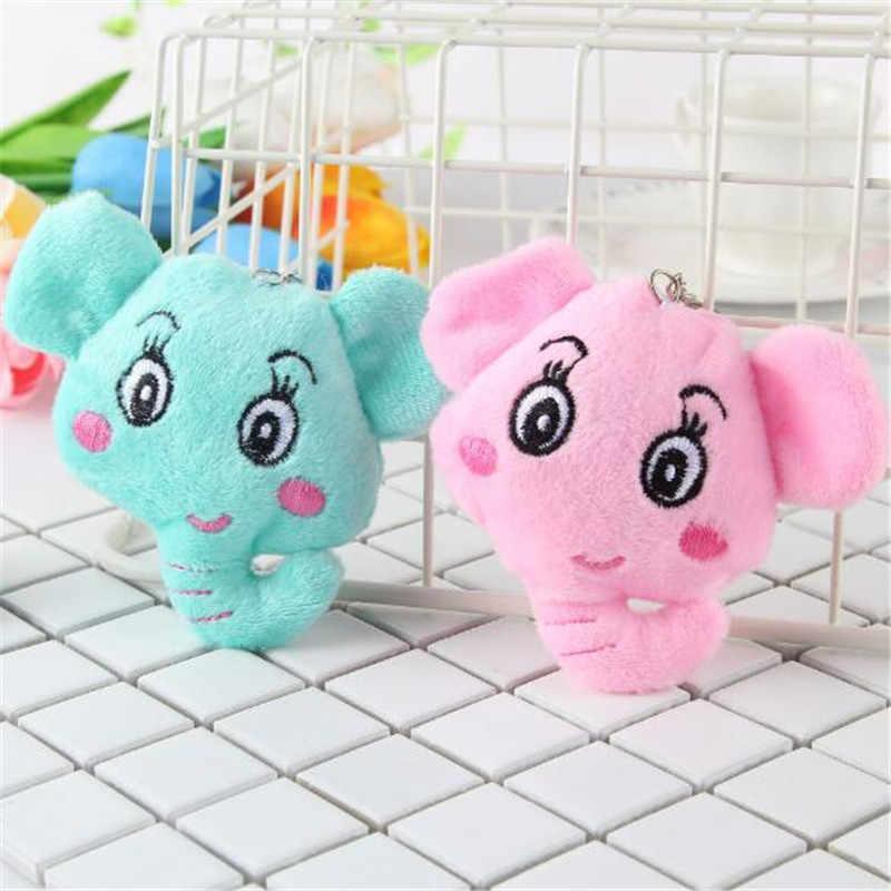 1PCS מיני קטיפה פיל צעצועים חמוד רך ממולא פילים צעצוע קטן תליון פעילות מתנות לילדים חברה חמה 10CM