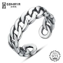 GOMAYA Aliexpress Hot Sale Real 925 Sterling Silver Stacking Open Finger Rings For Women Men Punk Style Fine Jewelry