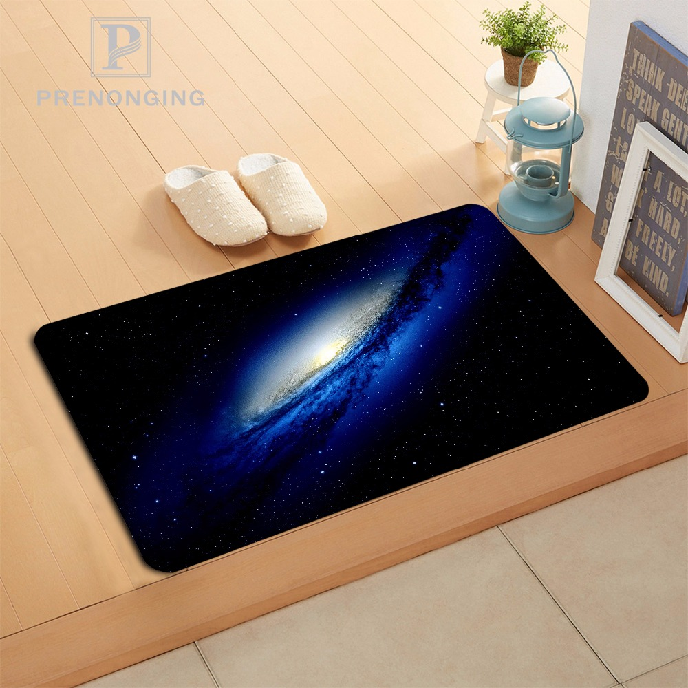 Custom Dynamic Galaxy Doormat Print slip-resistant Mats Floor Bedroom Living Room Rugs 40x60cm 50x80cm Free Shipping 171120-08