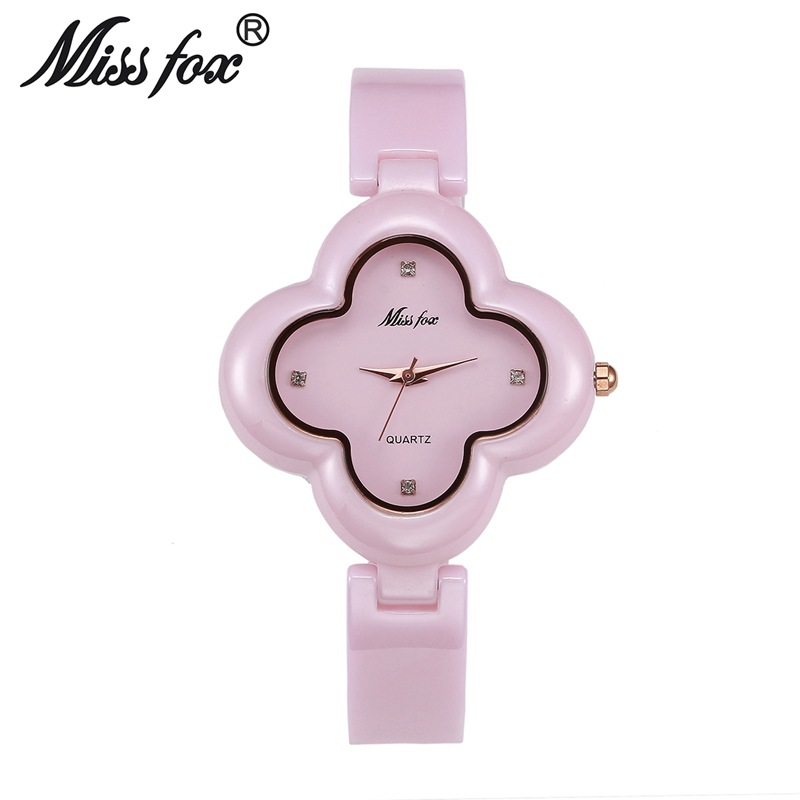 Miss Fox Brand Fashion luxury Ladies Wrist Watches Quartz Timepiece Women Ceramic Watch clocks best gift relojes mujer