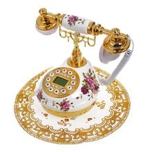 Ретро Vintage Античный Стиль Цветочные Керамические Домашнего Декора Телефон Рабочий Стол Телефон