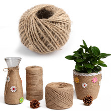 30/50M Natural Burlap Hessian Jute Twine Cord Hemp Rope String Gift Packing Strings Christmas Event & Party Supplies(China)