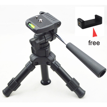 Discount! Lightweight Camera Compact Aluminum Desktop Mini Tripod with Pan Head for Canon Nikon DSLR Cameras