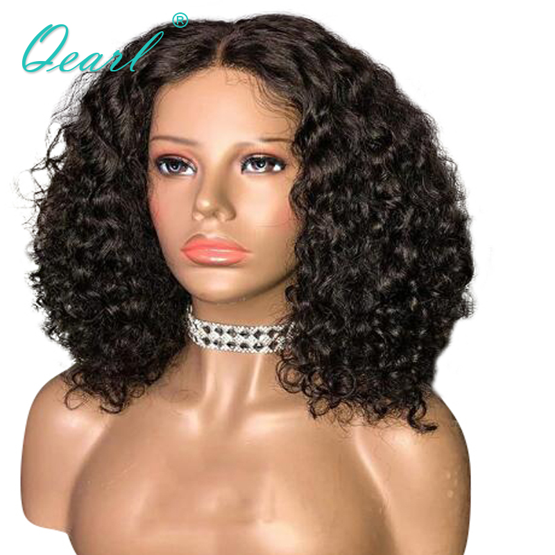 13x6 Deep Long Middle Part Lace Front Wigs Pre plucked Brazilian Curly Remy Hair Human Hair