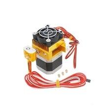 цены Assembled Mk8 Extruder 0.2/0.3/0.4/0.5Mm Print Nozzle Hot End For Makerbot Prusa I3 Reprap 3D Printer