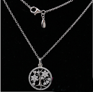 Tree of life necklace sterling silver 925 family tree HfoBcciwF