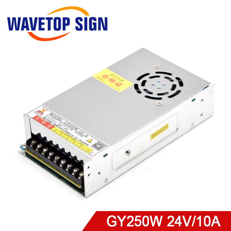 WaveTopSign <font><b>250W</b></font> Switching <font><b>Power</b></font> <font><b>Supply</b></font> 24V 10A GY250W-24-A for CNC Router Engraving Machine image