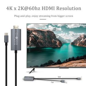 Image 3 - CHOSEAL Type C vers câble HDMI 4K @ 60Hz USB C câble HDMI Thunderbolt 3 pour MacBook Samsung Galaxy S10/S9 Huawei Mate 20 P20 Pro