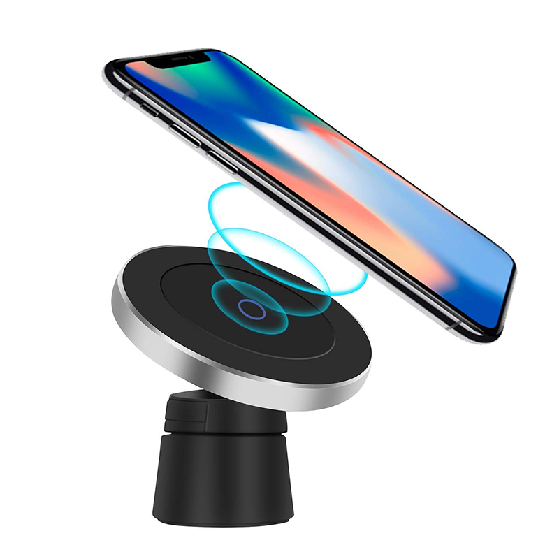 Qi Wireless Car Charger for iPhone XsXsMaxXr8plus Magnetic Phone Holder 10W Fast Car Wireless Charger for Samsung S9 S8 Note9 (1)