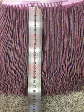 stock tassel   10 yards/bag  ym307#  15 cm quality excellence colour purple beaded stock  for sawing dress fringe trim tassel trim flounce layered neckline dress