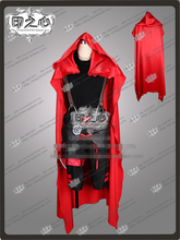 Anime RWBY Ruby Rose Little Red Riding Hood Combat Black Cosplay Costume Shirt+Pants+Cloak  D