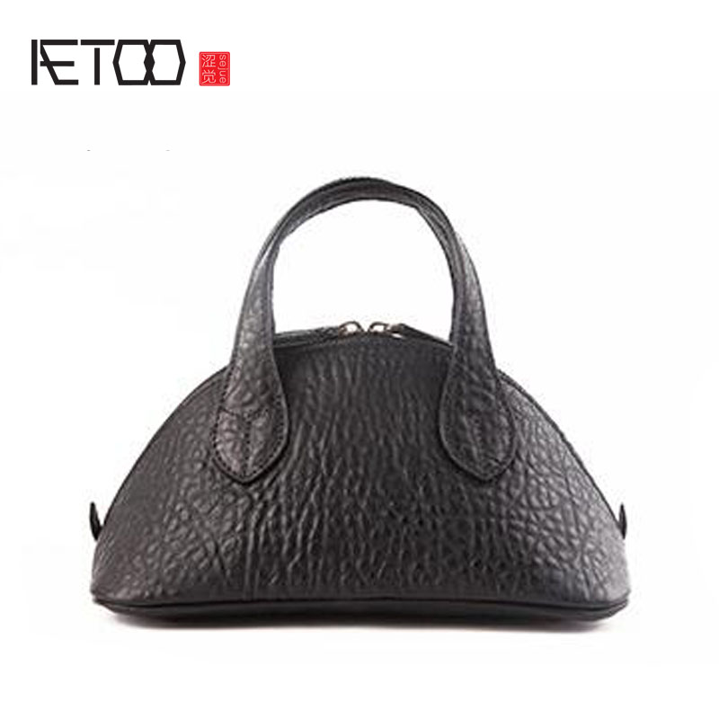 AETOO The first layer of leather leather shells female small 2017 new mini personalized fashion mini handbag dynamic buckling of composite shells