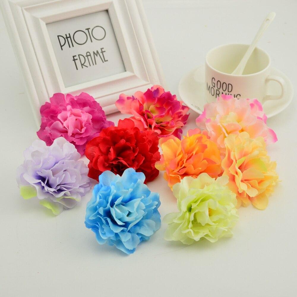 8cm cheap silk peony artificial flower for the garden wedding flower wall decoration DIY make door wreaths hat fake roses flower