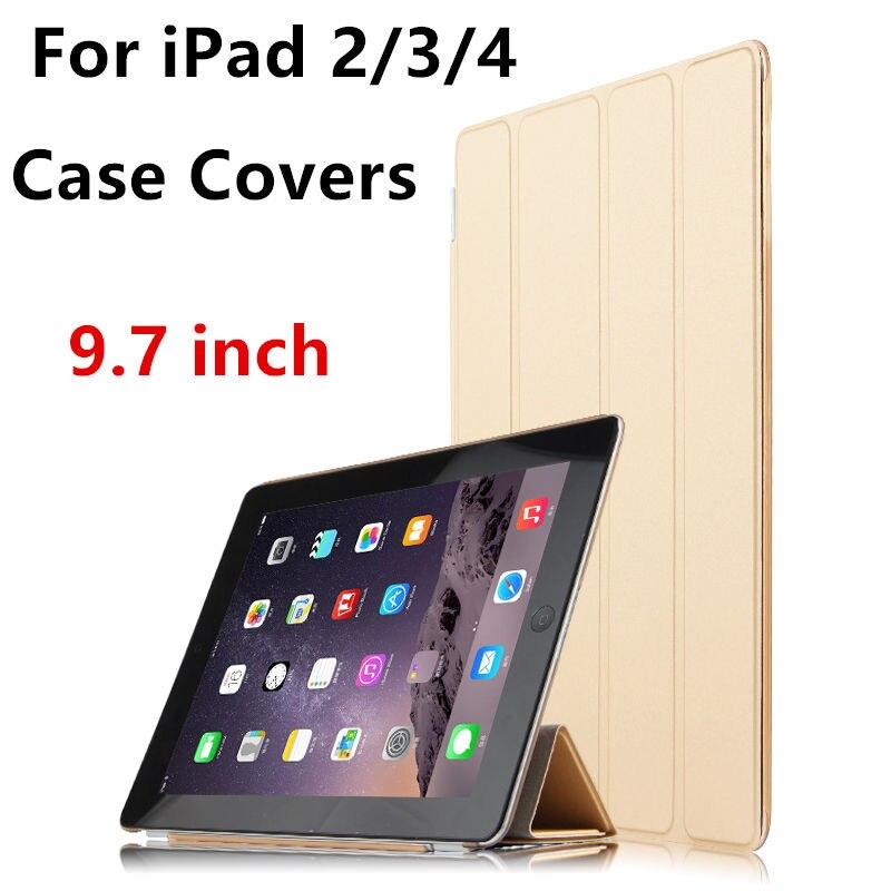 цена Case For Apple iPad 4 iPad3 iPad2 Smart cover Leather Protective Tablet For iPad4 3 2 PU Protector Sleeve Covers 9.7 inch cases онлайн в 2017 году
