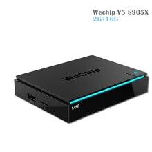 D'origine WeChip V5 Amlogic S905X Android TV Box 6.0 2G/16G KDPlayer 17.1 BT4.0 Double Wifi Media Player mieux que x96 KDPlayer