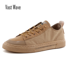 VastWave Sewing Outsole Autumn Luxury Man Sneakers Shoes Canvas Fabric