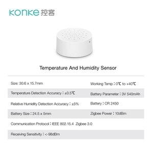 Image 3 - جهاز استشعار درجة الحرارة والرطوبة Konke زيجبي يعمل مع أليكسا جوجل مساعد المنزل